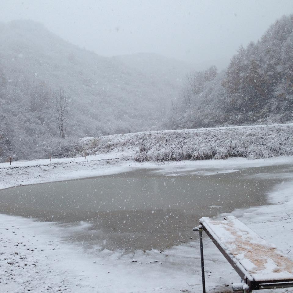 Нагульные пруды зимой